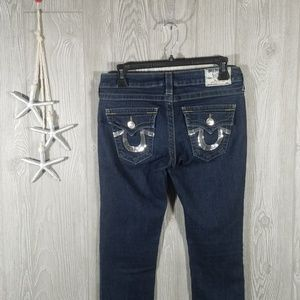 True Religion Skinny Sequin Jeans Size 28